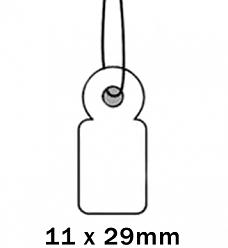 Apli Kaartje aan Koord 11x29cm