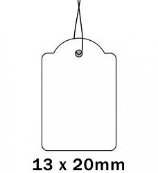 Apli Kaartje aan Koord 13x20cm