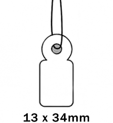 Apli Kaartje aan Koord 13x34cm