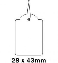 Apli Kaartje aan Koord 28x43cm