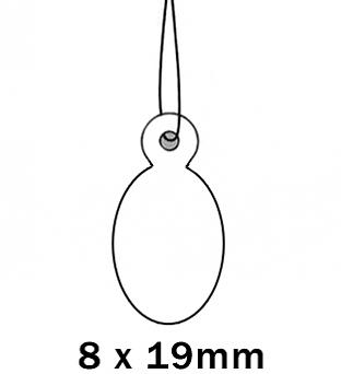 Apli Kaartje aan Koord 8x19cm