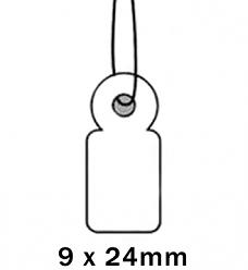 Apli Kaartje aan Koord 9x24cm
