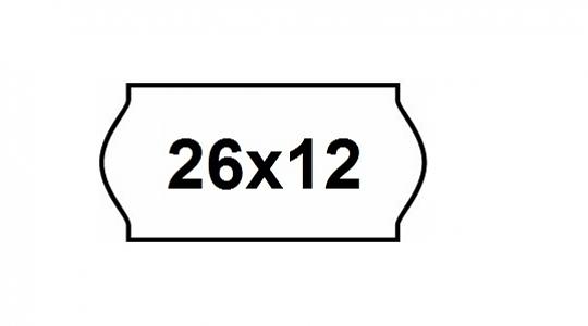 Etiket 26x12mm Wit