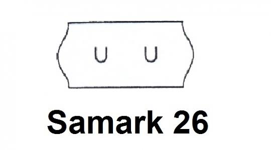 Etiket 26x12mm Wit (U-stans)