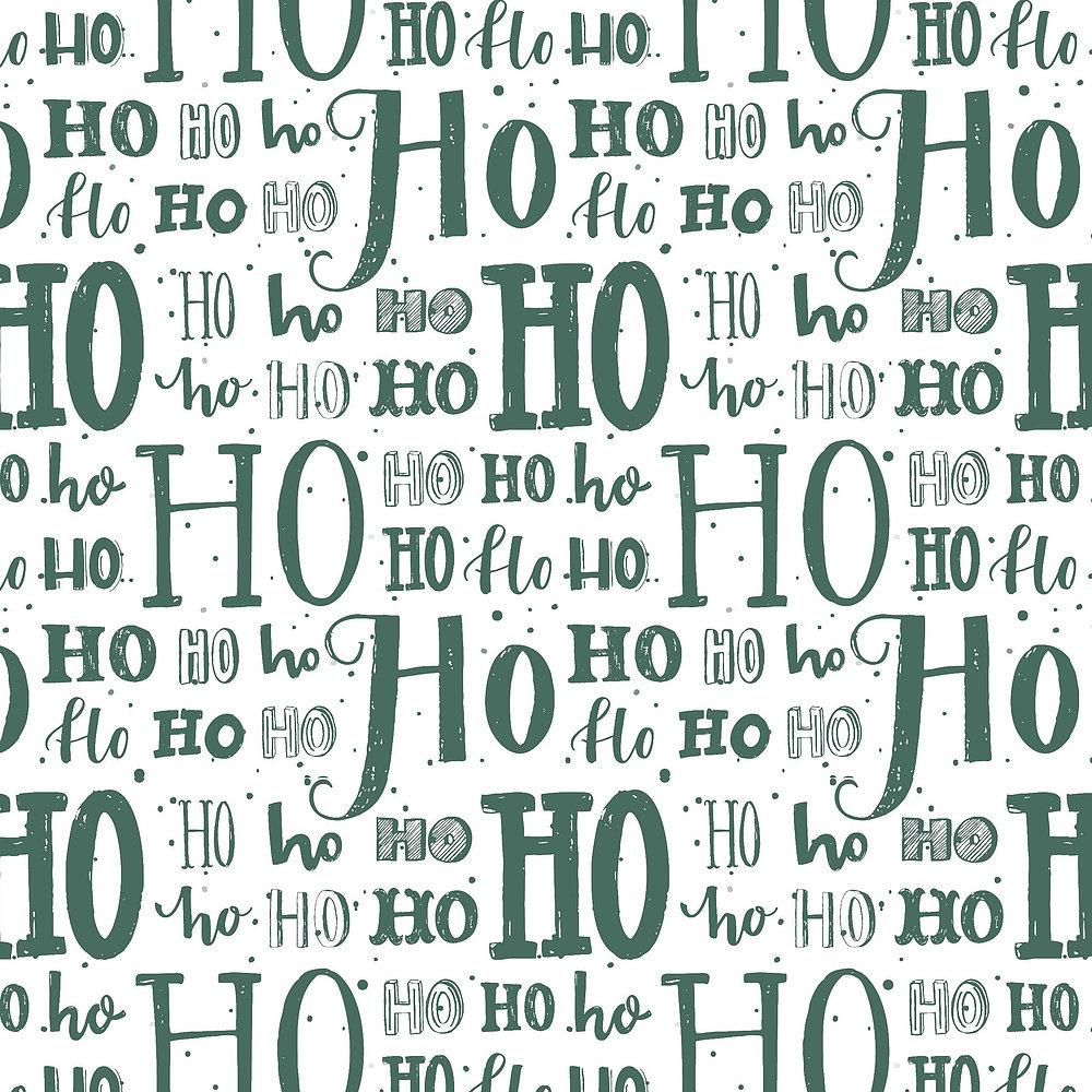 Kadopapier Hohoho Green 50cm