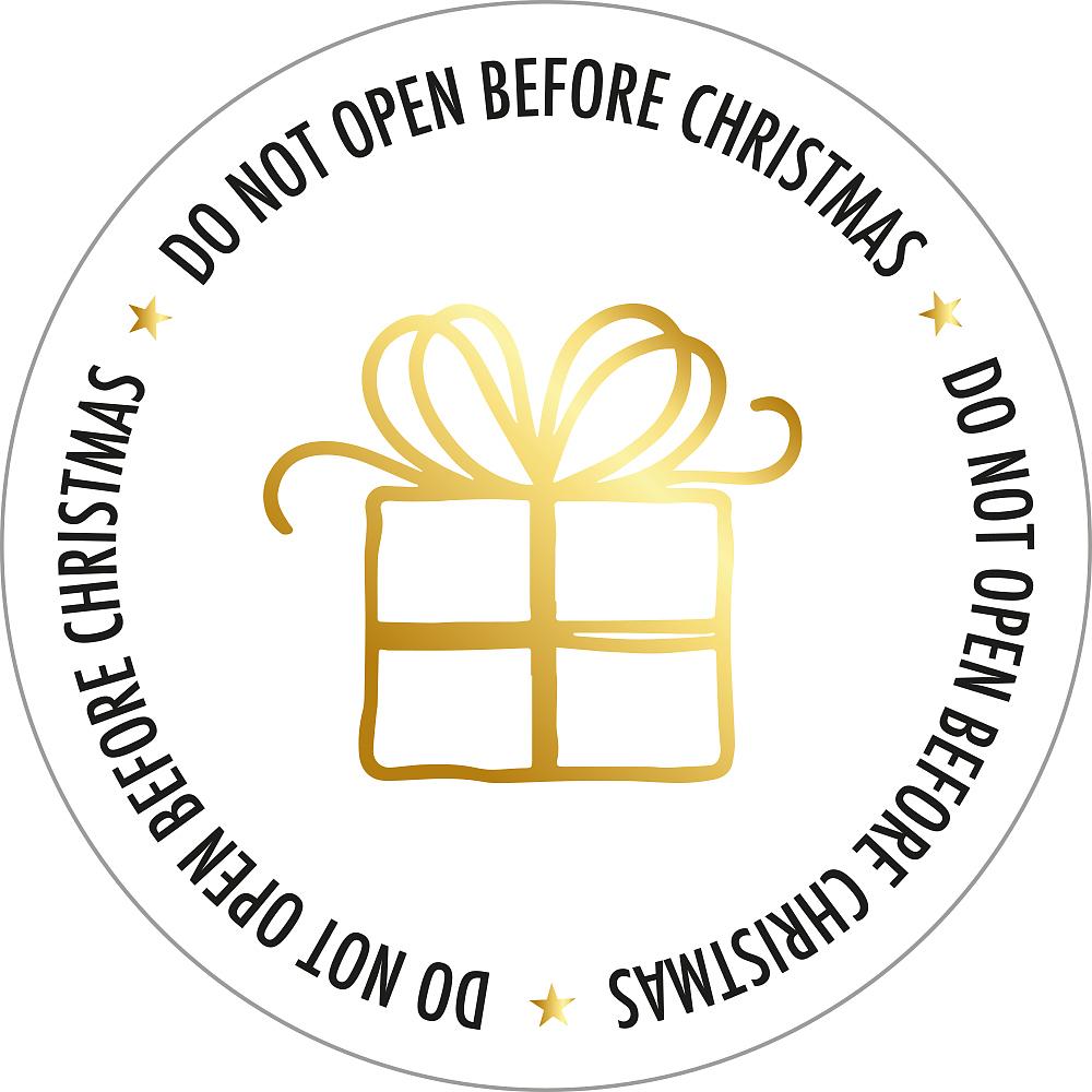 Kadosticker Do not open before Christmas