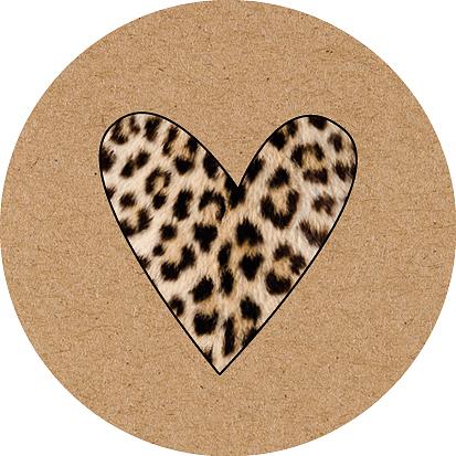 Kadosticker Leopard Heart Kraft