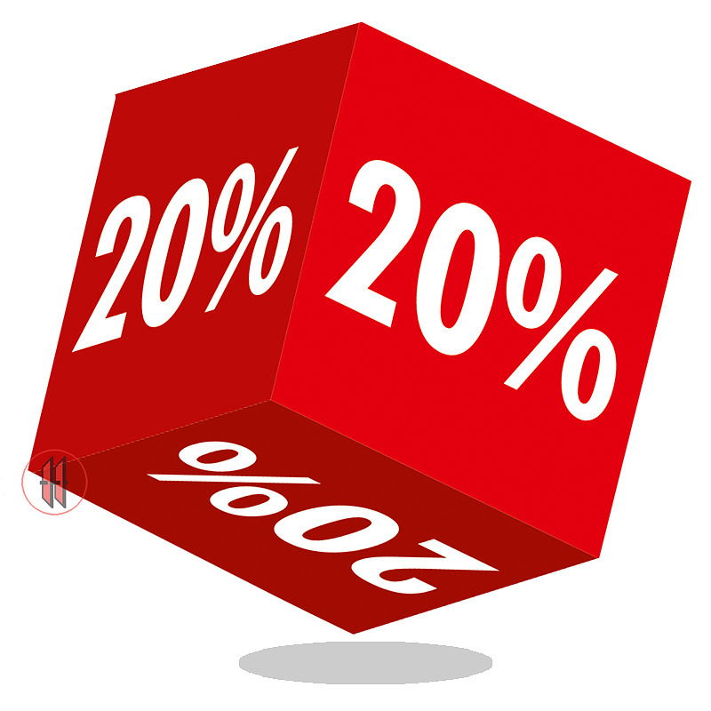 Kortingskubus 20%