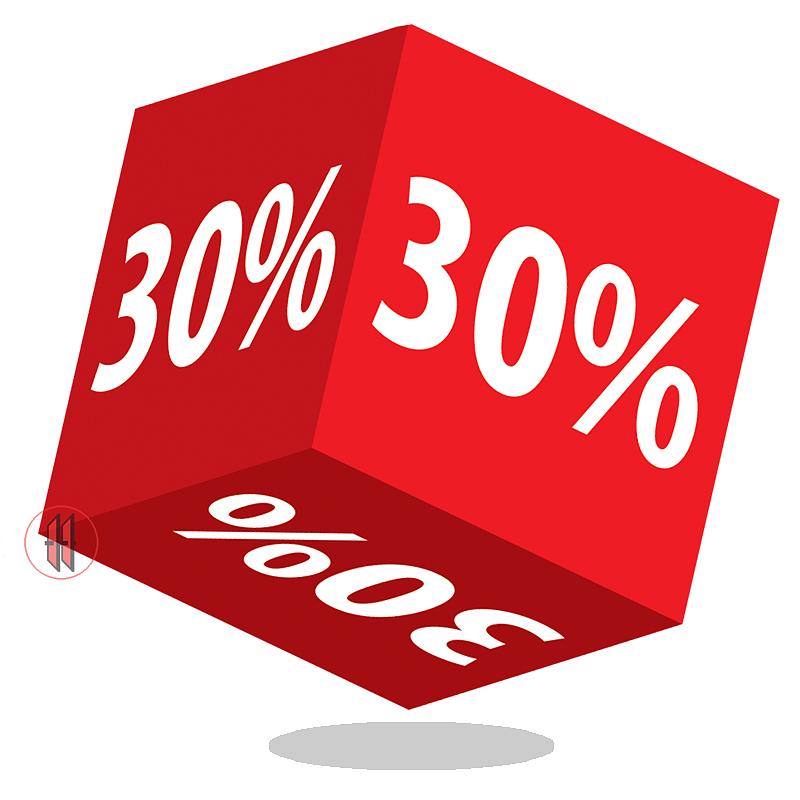 Kortingskubus 30%