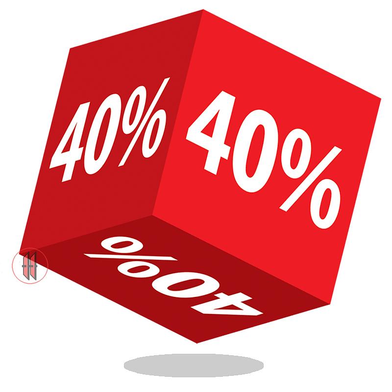 Kortingskubus 40%