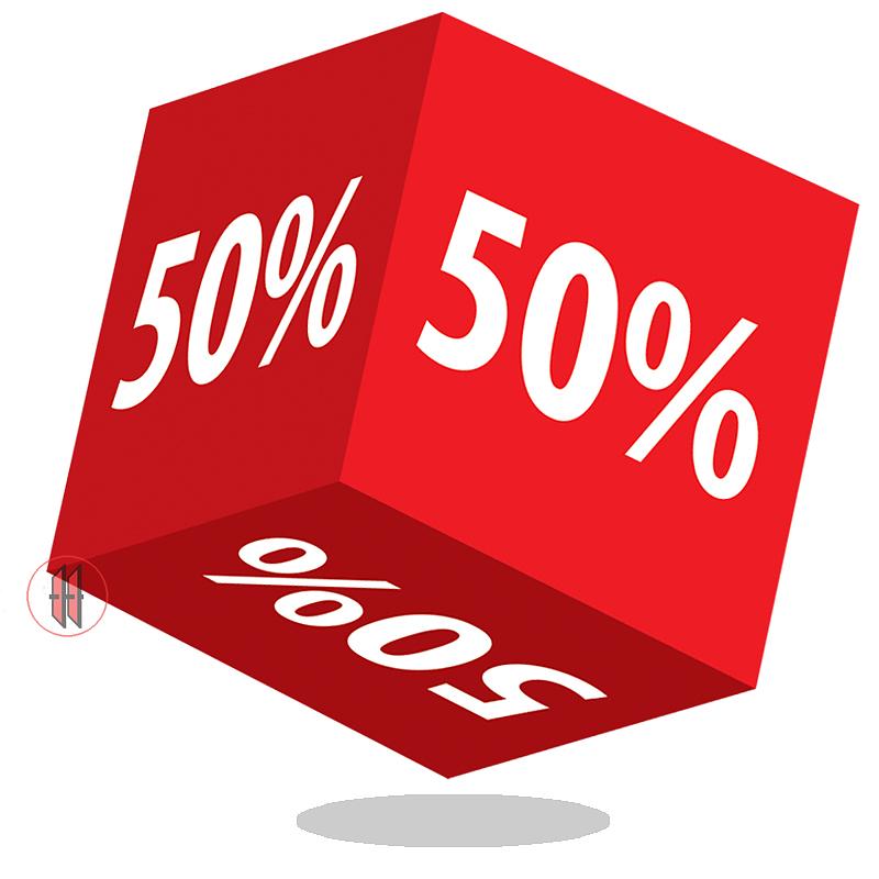 Kortingskubus 50%