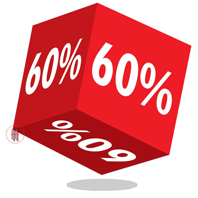 Kortingskubus 60%