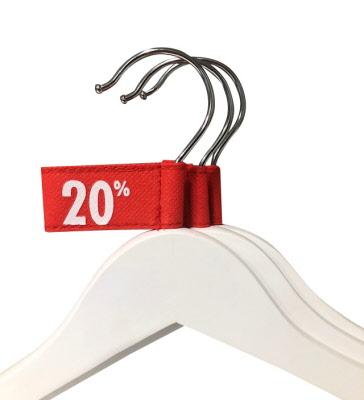 -20% Tags Rood voor Kledinghangers