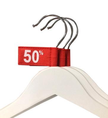 -50% Tags Rood voor Kledinghangers