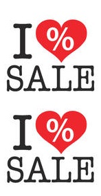 Sale Poster I Love Sale