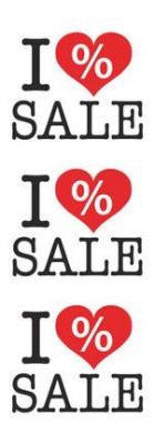 Sale Poster XL I Love Sale