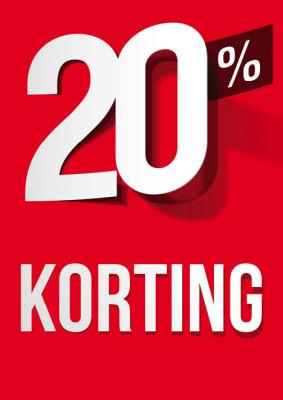 Raambiljet 20% Korting