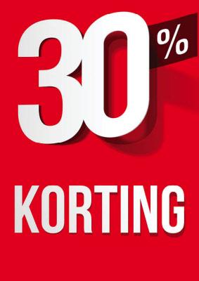 Raambiljet 30% Korting