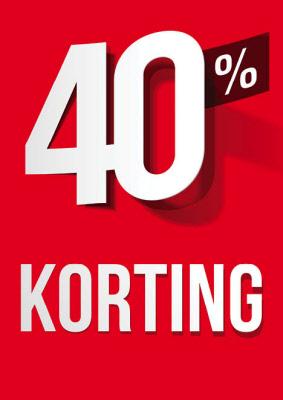 Raambiljet 40% Korting