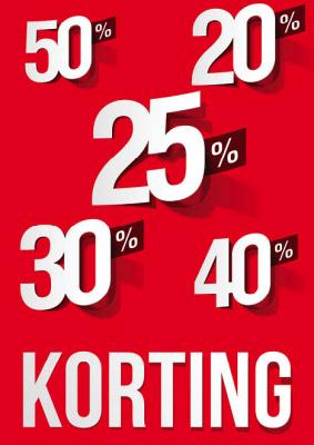Raambiljet 20%-50% Korting
