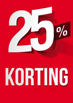 Raambiljet 25% Korting