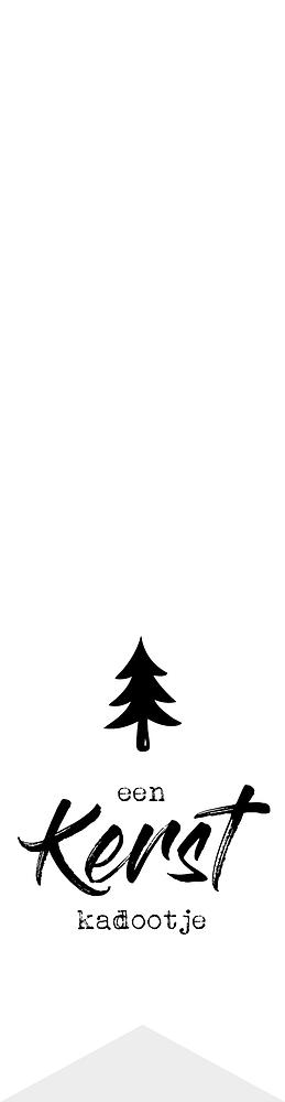 Labelsticker Een kerst kadootje