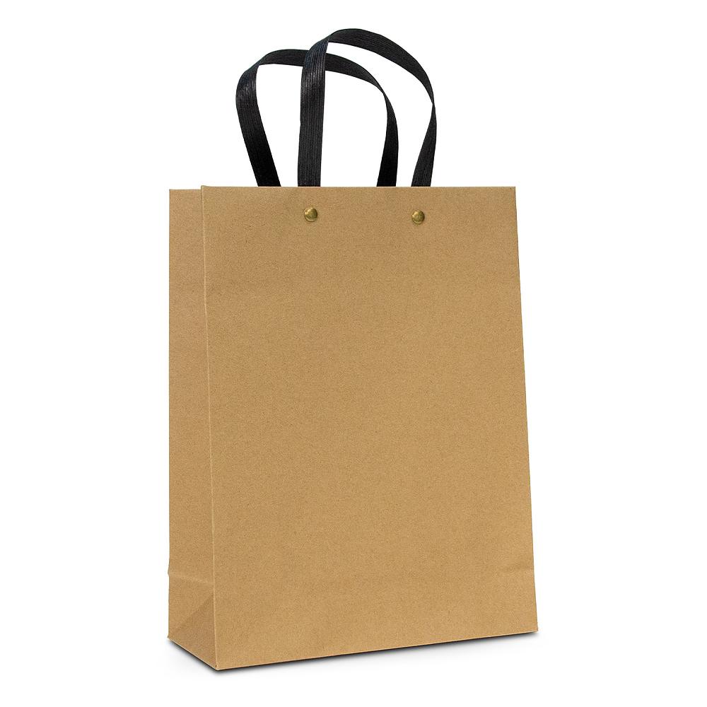 Luxe Krafttasje met zwart handvat