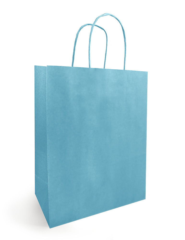 Papieren Draagtas Turquoise