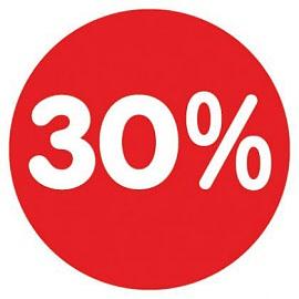 Raamsticker 70%