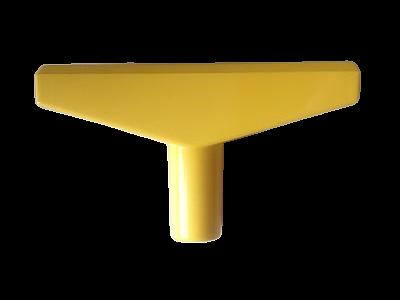 T-stuk voor Prijskaartraam Geel 90mm