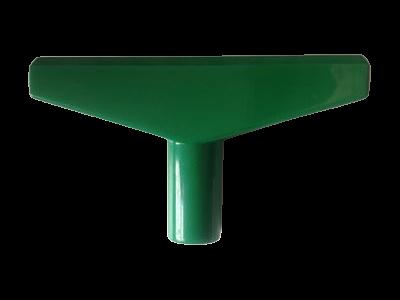 T-stuk voor Prijskaartraam Groen 90mm