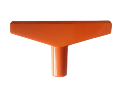 T-stuk voor Prijskaartraam Oranje 90mm
