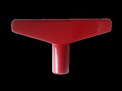 T-stuk voor Prijskaartraam Rood 90mm