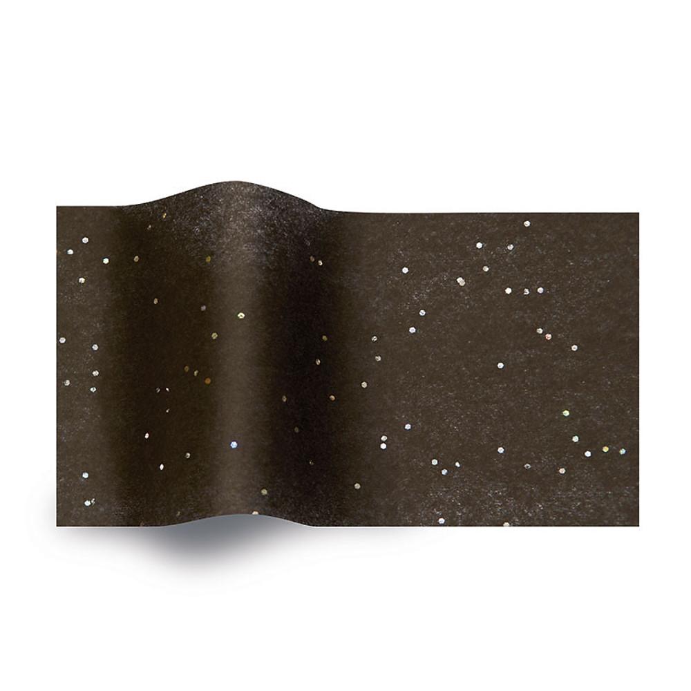 Vloeipapier Zwart Glitter